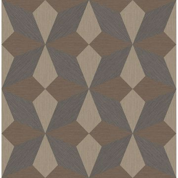 Picture of Valiant Multicolor Faux Grasscloth Geometric Wallpaper