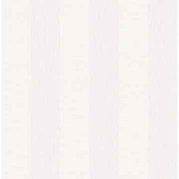 Picture of Intrepid White Faux Grasscloth Stripe Wallpaper