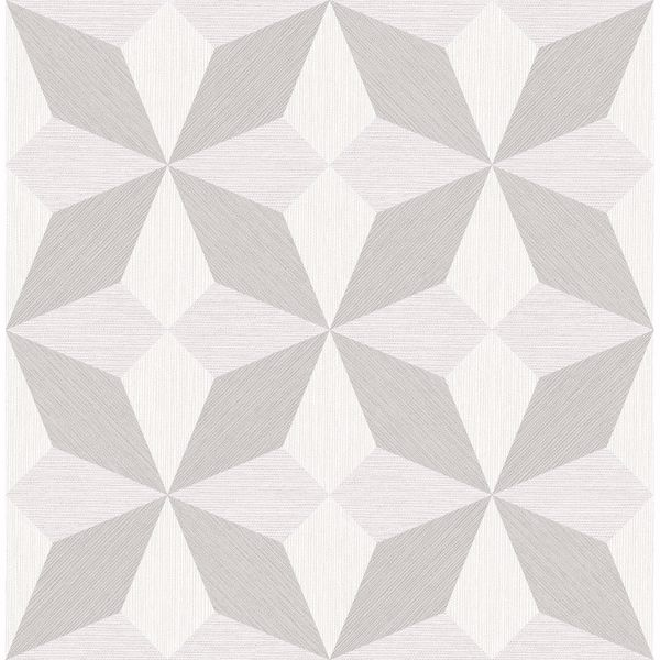 Picture of Valiant Off-White Faux Grasscloth Geometric Wallpaper