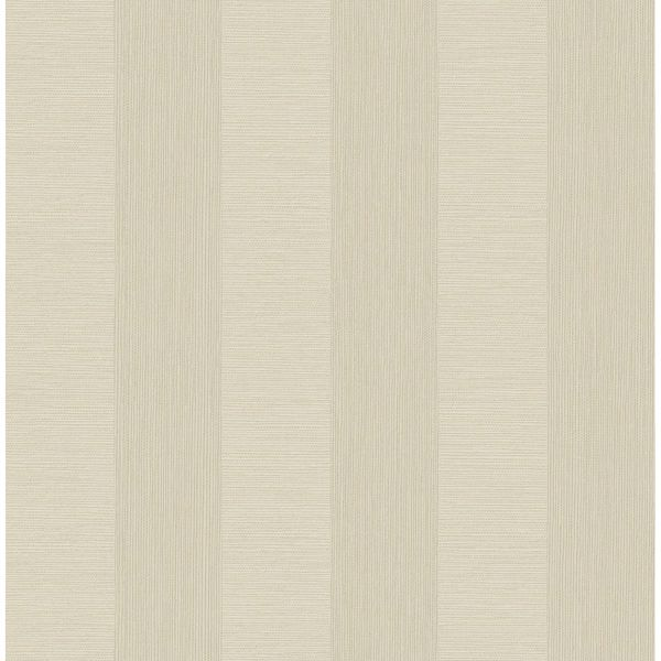Picture of Intrepid Champagne Faux Grasscloth Stripe Wallpaper