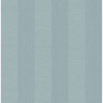 Picture of Intrepid Aqua Faux Grasscloth Stripe Wallpaper