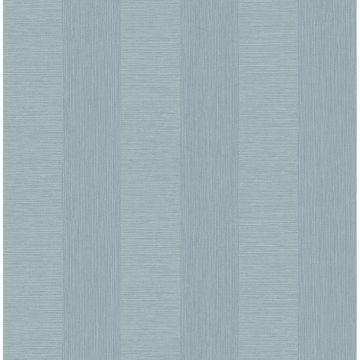 Picture of Intrepid Aqua Faux Grasscloth Stripe Wallpaper
