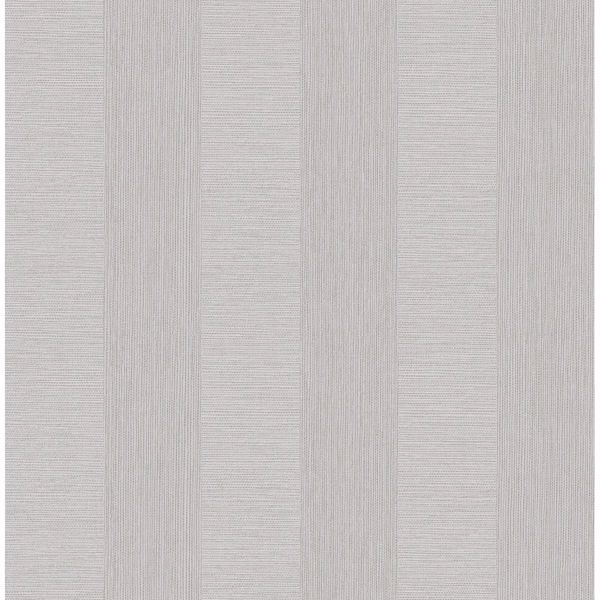 Picture of Intrepid Light Grey Faux Grasscloth Stripe Wallpaper