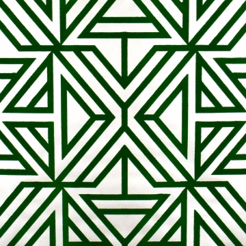 Picture of Helios Green Geometric Wallpaper