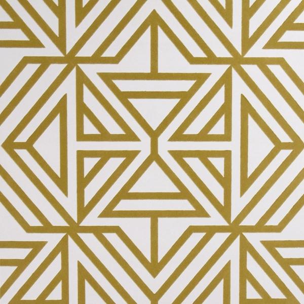 Helios Mustard Geometric Wallpaper