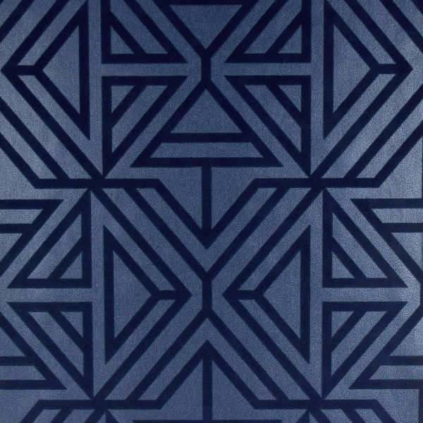 Picture of Helios Blue Geometric Wallpaper