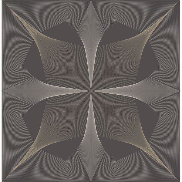 Picture of Radius Dark Brown Geometric Wallpaper