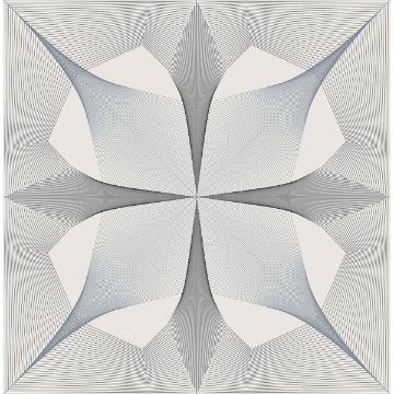 Picture of Radius Black Geometric Wallpaper