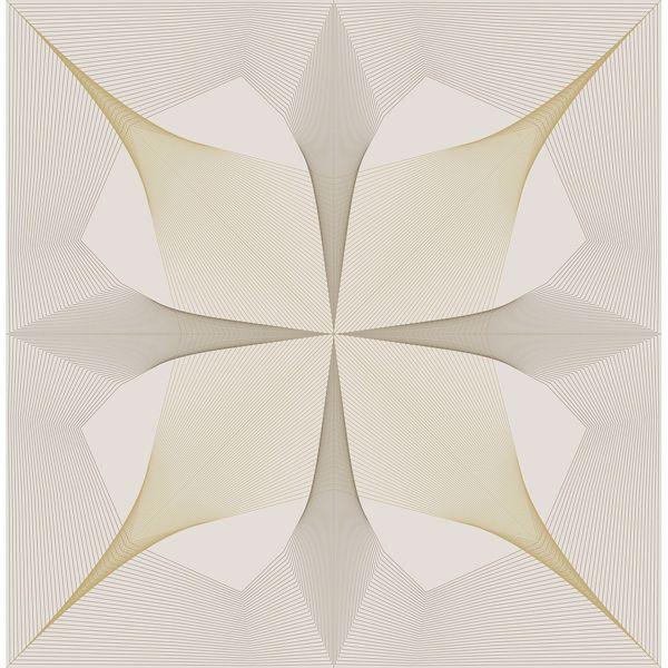 Picture of Radius Off-White Geometric Wallpaper