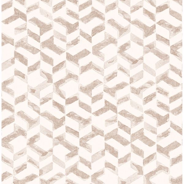 Picture of Instep Rose Gold Abstract Geometric Wallpaper