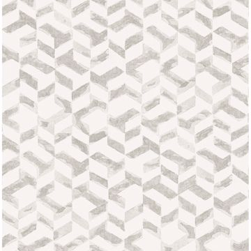Picture of Instep Pewter Abstract Geometric Wallpaper