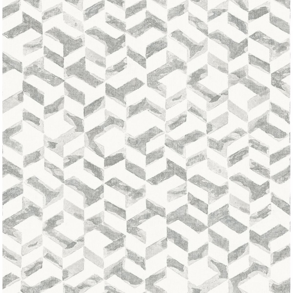 Picture of Instep Platinum Abstract Geometric Wallpaper