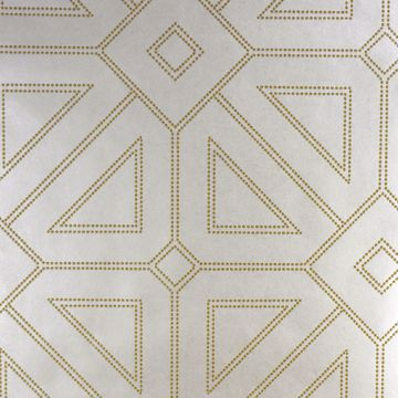 Picture of Voltaire Ivory Geometric Wallpaper