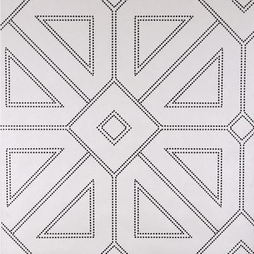 Picture of Voltaire Off-White Geometric Wallpaper