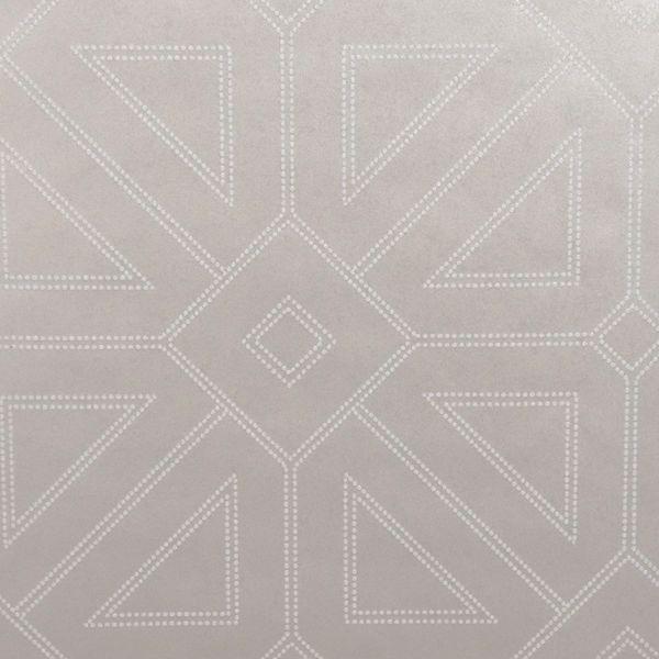 Picture of Voltaire Platinum Geometric Wallpaper