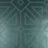 Picture of Voltaire Dark Green Geometric Wallpaper