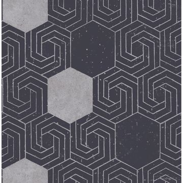 Picture of Momentum Navy Geometric Wallpaper
