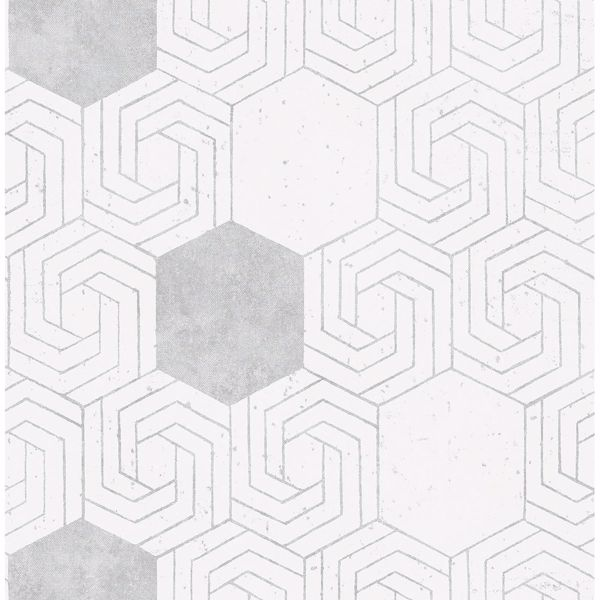 Picture of Momentum Off-White Geometric Wallpaper