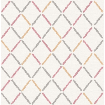 Picture of Allotrope Rose Linen Geometric Wallpaper
