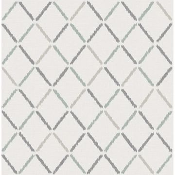 Picture of Allotrope Grey Linen Geometric Wallpaper