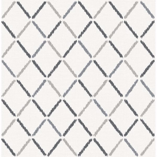 Picture of Allotrope Charcoal Linen Geometric Wallpaper