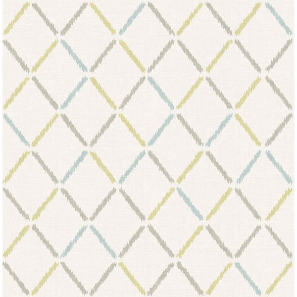 Picture of Allotrope Multicolor Linen Geometric Wallpaper