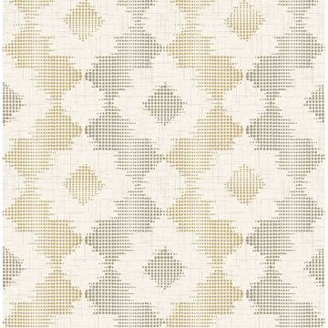 Picture of Babylon Mustard Abstract Floral Wallpaper