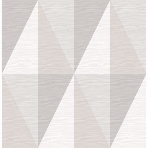 Picture of Aspect Grey Geometric Faux Grasscloth Wallpaper