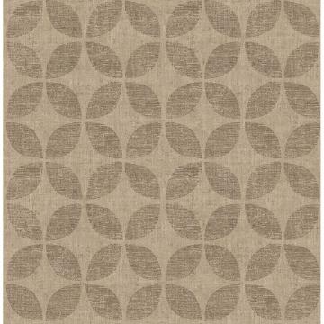 Picture of Polaris Brass Geometric Wallpaper
