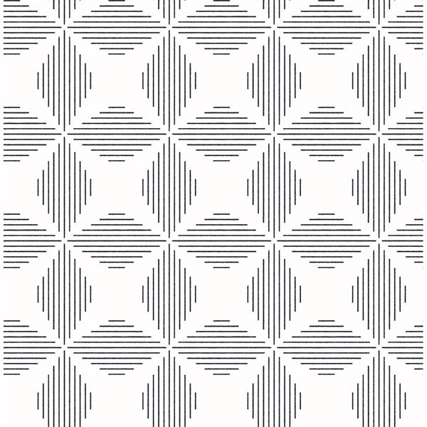 Picture of Telestar Black Geometric Wallpaper