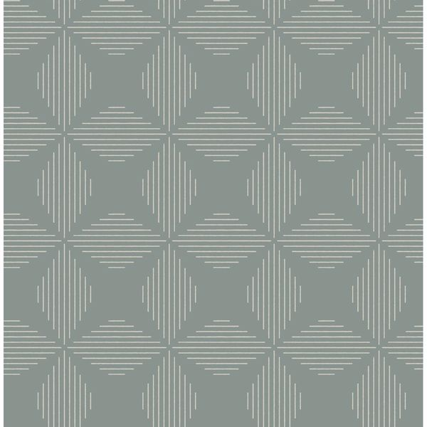 Picture of Telestar Teal Geometric Wallpaper
