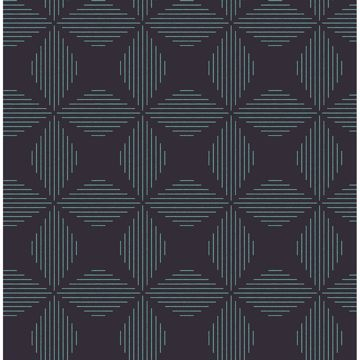 Picture of Telestar Navy Geometric Wallpaper