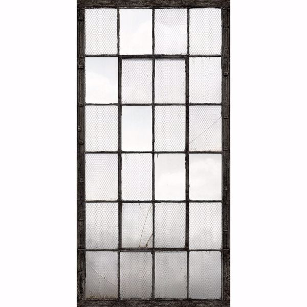 Picture of Warehouse Windows Mural Charcoal