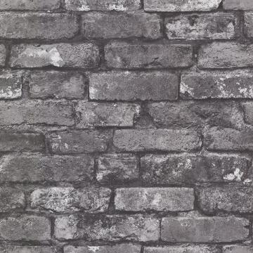 Picture of Debs Grey Exposed Brick Wallpaper