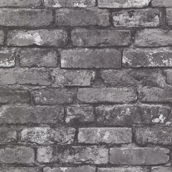 Picture of Debs Grey Exposed Brick Wallpaper