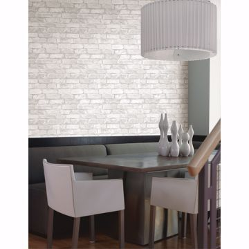 Picture of Debs White Exposed Brick Wallpaper