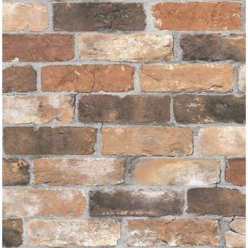 Picture of Rustin Rust Reclaimed Bricks Wallpaper