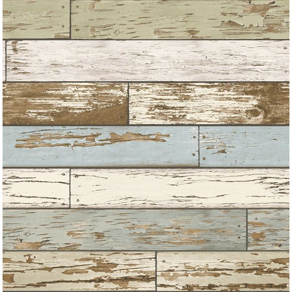 Picture of Levi Green Scrap Wood Wallpaper