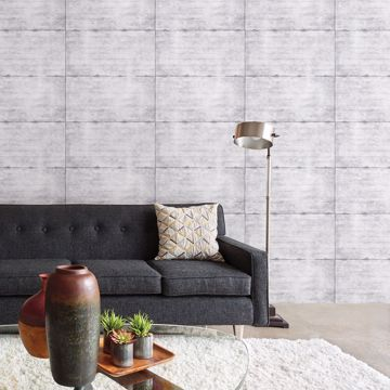Picture of Reuther Light Grey Smooth Concrete Wallpaper