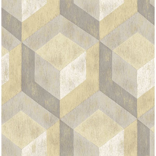 Picture of Clarabelle Beige Rustic Wood Tile Wallpaper