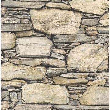 Picture of Cesar Beige Stone Wall Wallpaper