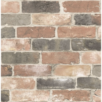 Picture of Rustin Red Reclaimed Bricks Wallpaper