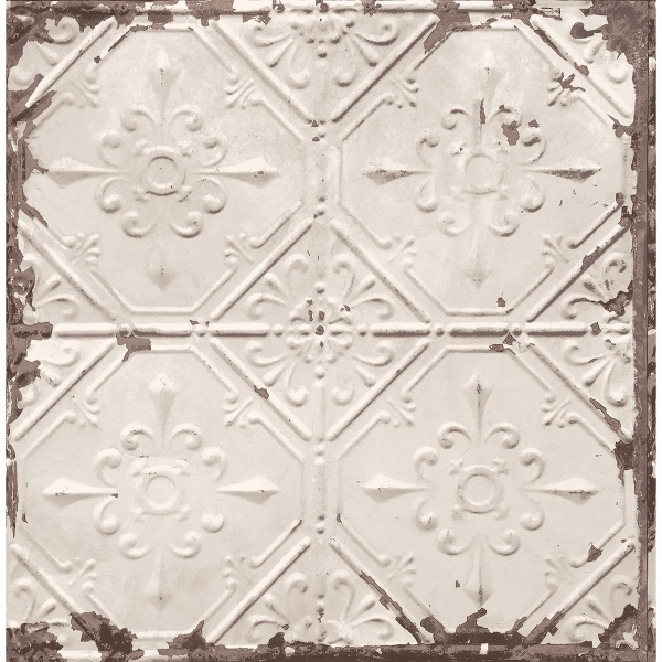 Picture of Donahue Off-White Tin Ceiling Wallpaper