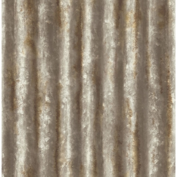 Picture of Kirkland Rust Corrugated Metal Wallpaper