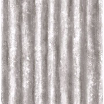 Picture of Kirkland Silver Corrugated Metal Wallpaper