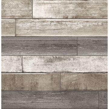 Picture of Porter Brown Weathered Plank Wallpaper