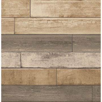 Picture of Porter Wheat Weathered Plank Wallpaper