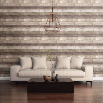 Picture of Porter Coffee Weathered Plank Wallpaper