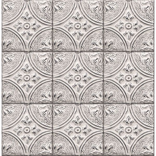 Picture of Cornelius White Tin Ceiling Tile Wallpaper