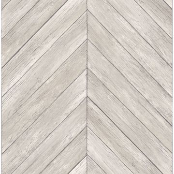 Picture of Parisian Light Grey Parquet Wallpaper